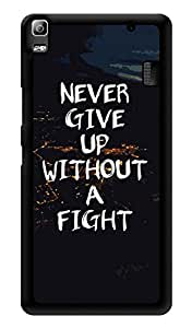 "Humor Gang Never Give Up - Motivational Quote Printed Designer Mobile Back Cover For ""Lenovo k3 note - Lenovo A7000 - Lenovo A7000 Plus - Lenovo A7000 Turbo"" (3D, Glossy, Premium Quality Snap On Case)"