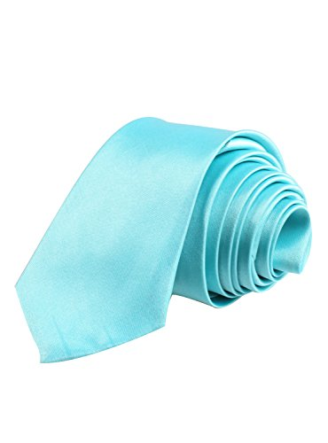 ORSKY Handmade Necktie Solid Color Tie Mens Neck Tie for Party and Business Neon Blue (Neon Color Neck Ties compare prices)