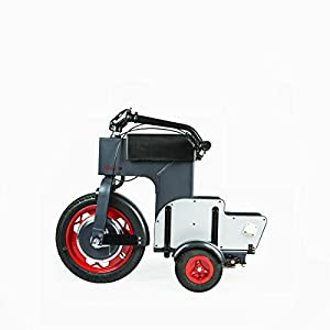 Acton Global Foldable Electric Scooter - White, 39.5 x 20.5 x 32-Inch