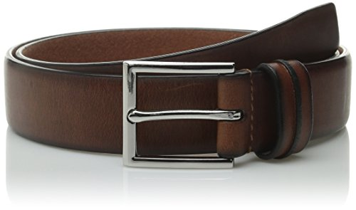 Cole Haan Men's 32mm Feather Edge Belt with Pinch Detail On Loop, British Tan, 34 (Cole Haan Belt Brown compare prices)