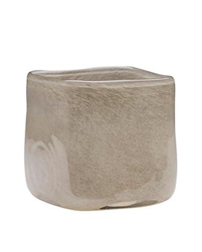 Dynasty Gallery Glass Cube Vase, Grey