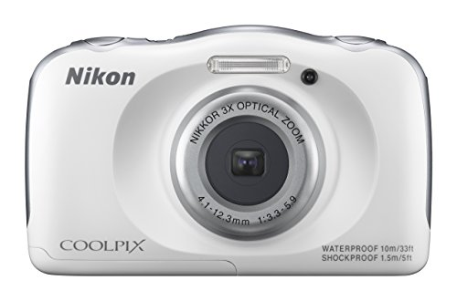 NIKON-COOLPIX-S33-White-Waterproof