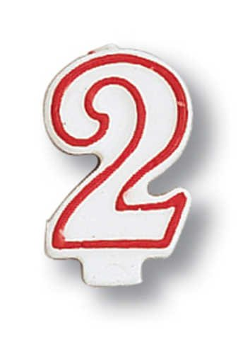 """2"" Numeral Candle - 1"