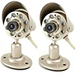 41XhnIMTRCL. SL160  Q See QSICC2PK Indoor Color CMOS Camera Kit with Night Vision and Audio (2 Pack)