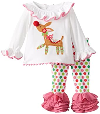 1466f9b17 Mud Pie Baby-Girls Newborn Reindeer Tunic and Legging Set