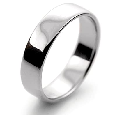 Platinum Wedding Ring Slight Court Light - 5mm Mens