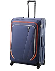 Skybags Greece 4 Wheel Polyester 76 cms Blue Softsided Suitcase (STGRE76WBLU)