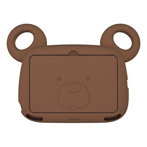 iPad Mini Case for Kids, OZAKI O!kiddo [BOBO BEAR Mini] Antibacterial Kids Case Set (Ages 2~6)?ith Foam Face Cover and Handy Shoulder Strap Non-Toxic for iPad mini 1st, 2nd  3rd Generation - Coffee by Ozaki [並行輸入品]