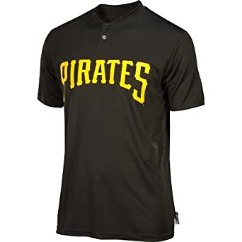 COOL BASE Pittsburgh Pirates MLB Two-Button Moisture Management Replica Major League... by Authentic Sports Shop