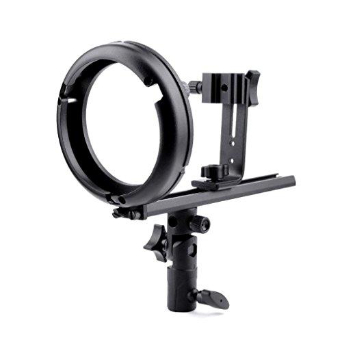 Phot-R® 'T' Bowens S-Type Flash Bracket for Canon & Nikon