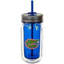 Cool Gear University of Florida Mason Jar, 16 oz, Blue/Orange