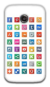 The Racoon Grip Social Media Geek!! hard plastic printed back case / cover for Moto E