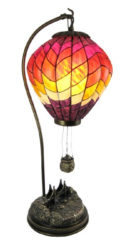 stained glass lamp shades on sale large stained glass hot air balloon. Black Bedroom Furniture Sets. Home Design Ideas