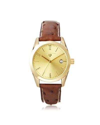 Swiss Legend Unisex 22038-YG-10-DA02C Peninsula Brown/Gold Leather Watch