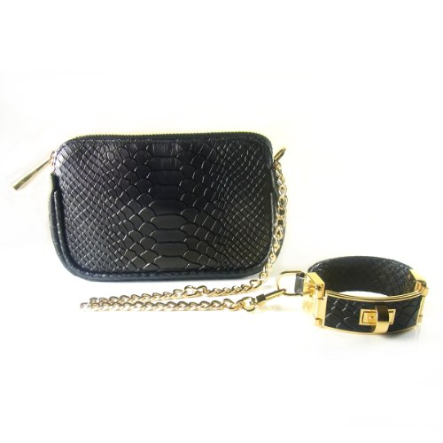41Xi 8BJmsL ~ Cc Skye | the Victoria Wristlet Black Python On Sale