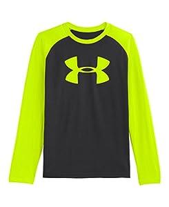 Under Armour Big Boys' UA Big Logo Long Sleeve T-Shirt Youth Small Black