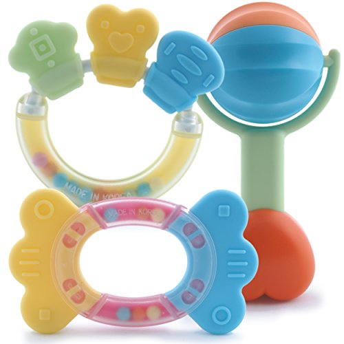 Baby Teether Toys and Rattles Toy Gift Sets - 1