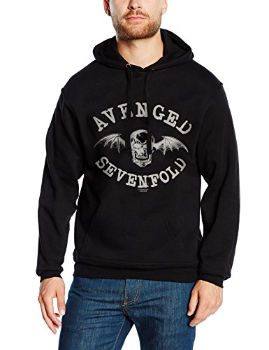 Avenged Sevenfold - Logo, Giacca con cappuccio da uomo, nero (schwarz - schwarz), L