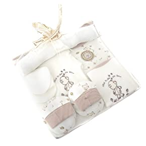 Baby Unisex Teddy Bear Design 6 Piece Gift Set