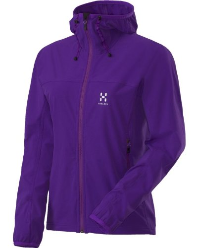 Hagl&#246;fs Damen Softshelljacke Boa Q Hood, imperialpurple, M, 601196