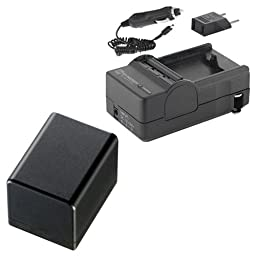 Canon VIXIA HF R32 Camcorder Battery Lithium Ion (2800 mAh 3.6v) With Charger - Replacement For Canon BP-727 Battery & Charger