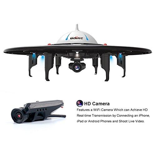 UDI U845 WIFI FPV Drohne mit HD Kamera 6-Kanal UFO 360° Flip Funktion Quadrocopter Drone Kopflosmodus Gravität Induktion -