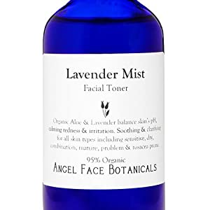 Lavender and Aloe Vera Facial Toner - Clarifying Balancing and Oil-Controlling - Vegan and Organic - 8 oz Refill from Angel Face Botanicals