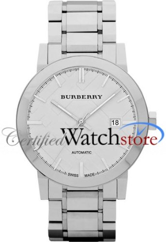 Burberry BU9300 Watch City Mens - Silver Dial Stainless Steel Case Automatic Movement