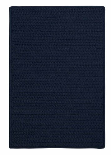 Navy Blue Indoor/Outdoor Rug, Very Durable Solid 3ft. x 5ft. Washable Kitchen/Porch/Patio Braided Carpet