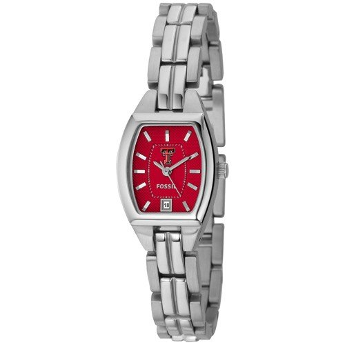 Fossil Texas Tech Red Raiders Ladies Stainless Steel Analog Cushion Watch