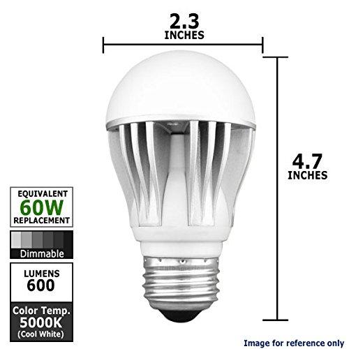 Kobi Cool 60 Equal - 11 Watt Dimmable Led A19 Shape Cool White Light Bulb