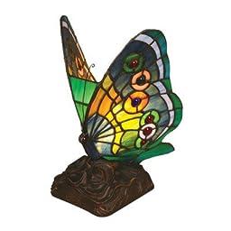 Chloe Lighting CH09B220NL 6.5-Inch Wide 1-Light Tiffany-Style Butterfly Light
