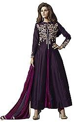Lakshmi Fashion Creation Women's Georgette Dress Material ( Dark Blue )