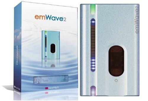 EmWave 2 - Heartmath Personal Stress Reliever Silver Blue