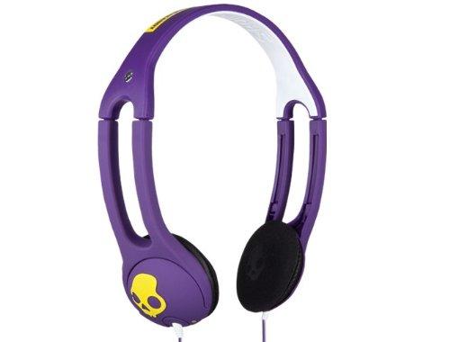 Skullandy Icon 2 W/Mic Sport Headphone - Shoe Purple