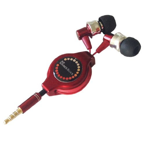 Air Jay Stereo Earphone Microphone 3.5 Iphone4S/4/3Gs/3G, Each Company Smartphone Corresponding Canal Red A208974 (Japan Import)