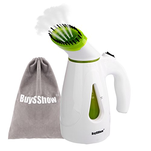 BuySShow Multi-functional Portable Garment Steamer,Mini Travel Steamer,Fabric Steamer, Face steamer,Humidifier,Powerful Handheld Steamer with Fast Heat-up,Travel Pouch and Brush Included (Face Garments compare prices)