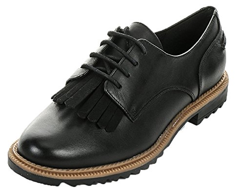 Clarks Griffin Mabel, Brogue Donna, Nero (Black Leather), 37.5 EU