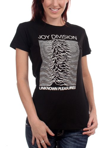 Joy Division Unknown Pleasures Women'S Junior T-Shirt In Black, Size: Small, Color: Black