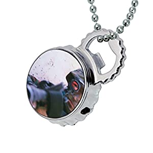 soldier gun scope lighter bottle cap opener keychain necklace sports outdoors. Black Bedroom Furniture Sets. Home Design Ideas