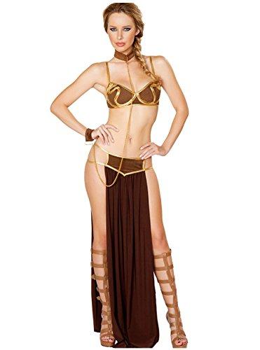 Tankoo Women's Sexy Princess Leia Slave Costume Miss Manners Christmas Uniform