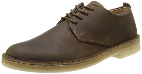 Clarks Originals - Desert London, Scarpe con lacci Derby da uomo, marron (beeswax), 43