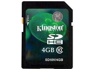 Kingston Digital Secure Digital Class 10 Value Card (SD10V/4GB)