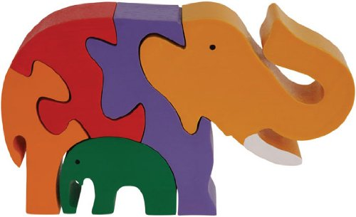 Cheap Fun ImagiPLAY 10209 Elephant Family Puzzle (B002HN09ZY)