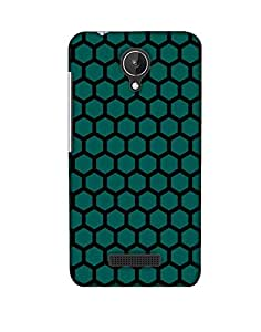 Pick Pattern Back Cover for Micromax Canvas Spark Q380