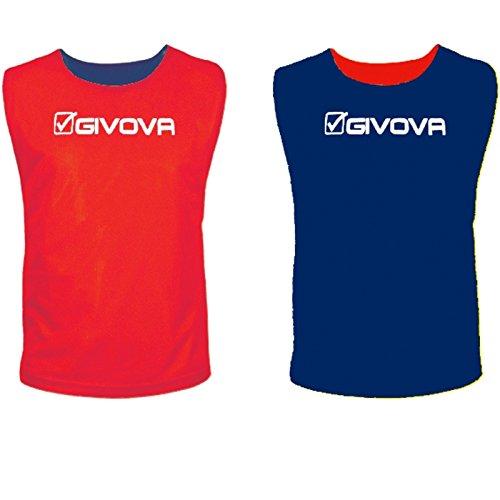 Givova Double Casacca Sportiva, Rosso/Blu, S