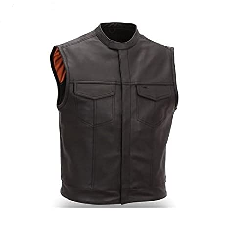 GILET CUIR BIKER SONS OF ANARCHY TAILLE XL