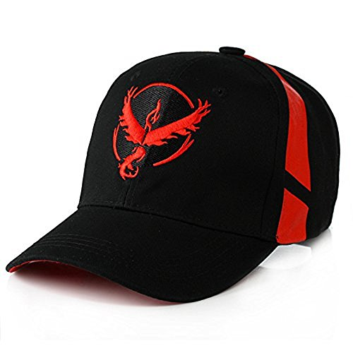 O-Flow Pokemon Go Style Embroidered Team Mystic, Valor, Instinct Snapback Baseball hat cap (Red) (Red Pokemon Hat compare prices)