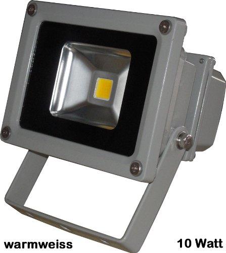 LED Fluter Flutlicht Scheinwerfer Strahler 10 Watt IP65 warmweiß