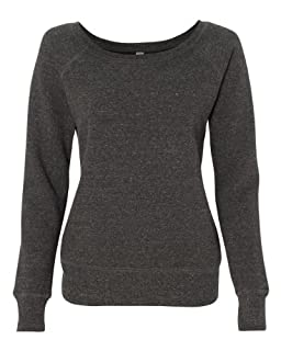 Bella 7501 Ladies Mia Slouchy Wideneck Fleece - Charcoal Triblend - L